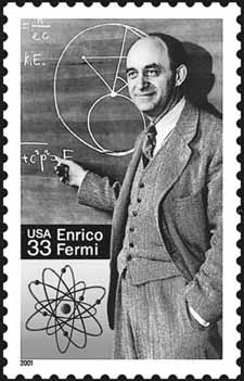 The Enrico Fermi stamp.