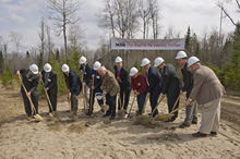 Officials break ground at the entrance to the future site of the NOvA detector facility in Ash River, Minnesota. Photo by Reidar Hahn