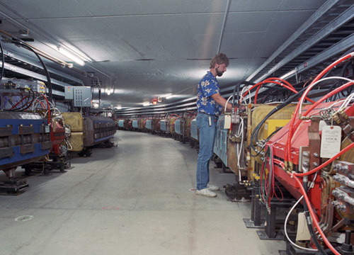 Elvin Harms in the Antiproton Source in 1989