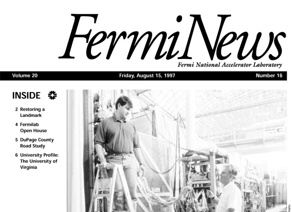 A FermiNews article from Aug. 15, 1997