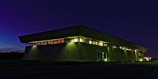NML, FAST, buildings, night, sky