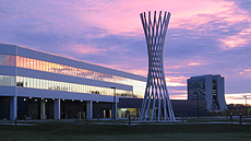 nature, sky, sunset, landscape, buildings, architecture, sculpture, Tractricious, IARC, Wilson Hall