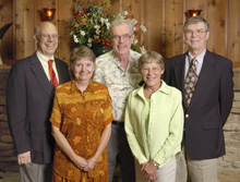 L-R:  Bruce Chrisman, Barb Kristen, Lincoln Read, Carolyn Hines and Ken Stanfield