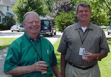 Dave Nevin (left) and Jed Brown at the safety celebration picnic.