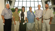 (Left-Right) Bob Willford, Debbie Griffin, Wei Gao, Cheri McKenna, Mike Witherell, Brad Trygar