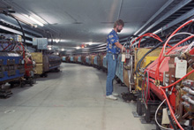 A view inside the antiproton source.