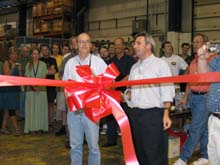 John Womersley and Jerry Blazey at ribbon cutting ceremony
