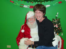 Beth Witherell and Santa