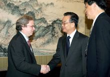Robin Staffin with the Chinese Premier