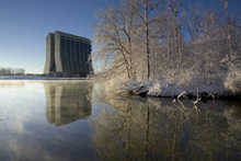First Snow of the Season at Fermilab