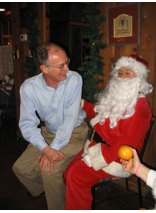Mike Witherell and Santa