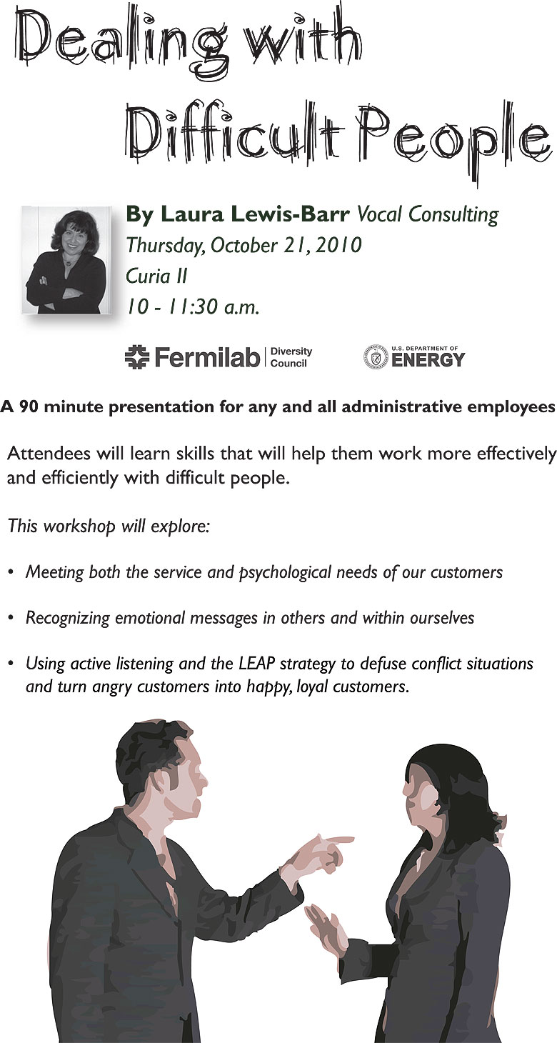 fermilab today dealing difficult people administrative event oct 21
