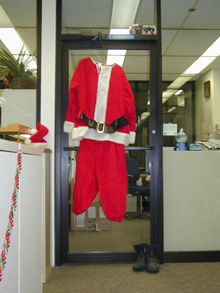 IT Managers Santa suit