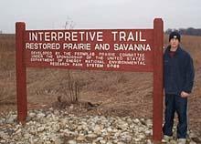 New Interpretive Trail sign